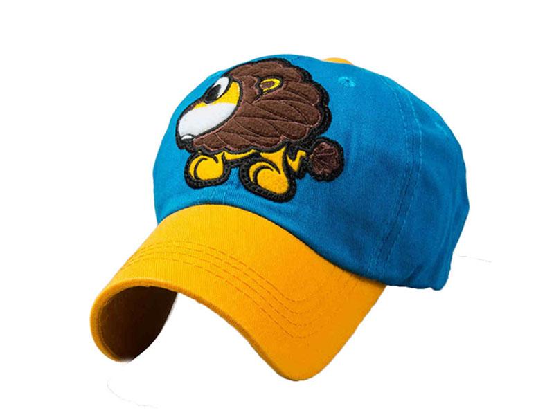 维帽业-小狮子卡通绣花 拼接棒球帽RM564