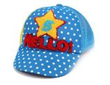 凯维帽业-星星点点毛巾绣花儿童棒球帽定做RM567