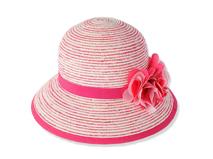 凯维帽业-装饰花包边条纹草帽工厂生产定制 RZ354