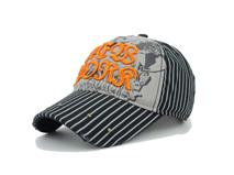 凯维帽业-3D绣花 印花柳钉 条纹棒球帽定制BM504